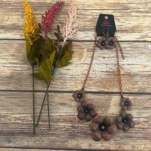 Bronze Floral Necklace